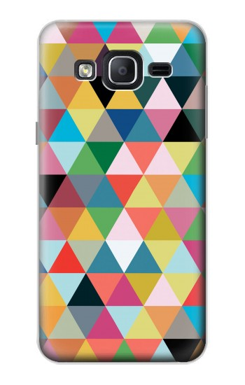 Printed Triangles Vibrant Colors Samsung Galaxy On5 Case