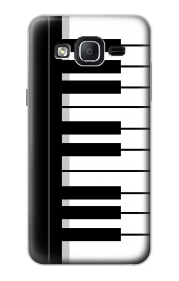 Printed Black and White Piano Keyboard Samsung Galaxy On5 Case
