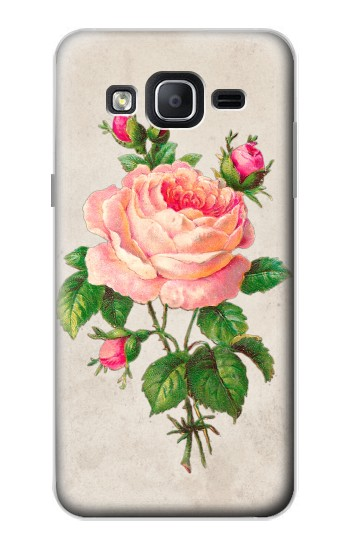Printed Vintage Pink Rose Samsung Galaxy On5 Case