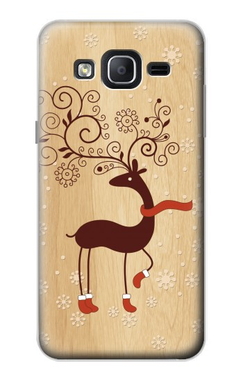 Printed Wooden Raindeer Samsung Galaxy On5 Case