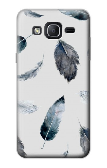 Printed Feather Paint Pattern Samsung Galaxy On5 Case