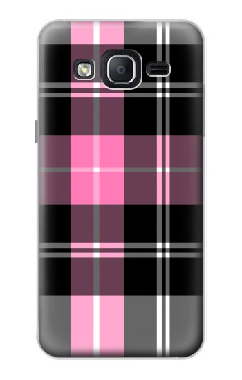 Printed Pink Plaid Pattern Samsung Galaxy On5 Case