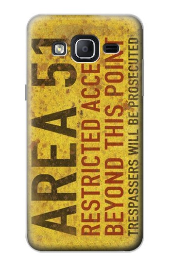 Printed Area 51 Restricted Access Warning Sign Samsung Galaxy On5 Case