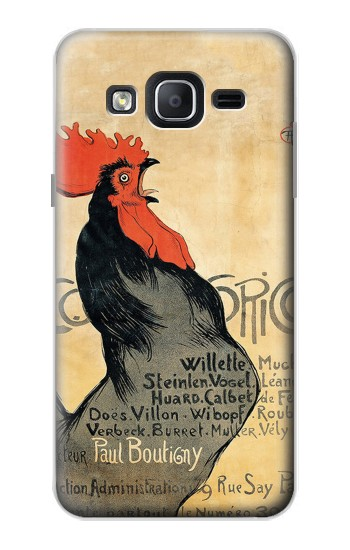 Printed Cocorico Rooster Vintage French Poster Samsung Galaxy On5 Case