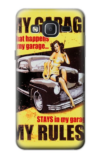 Printed My Garage Pinup Girl Samsung Galaxy On5 Case
