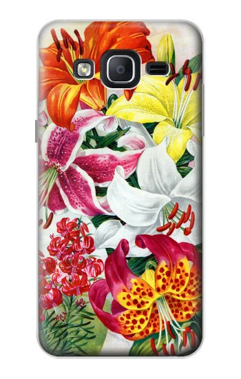 Printed Retro Art Flowers Samsung Galaxy On5 Case