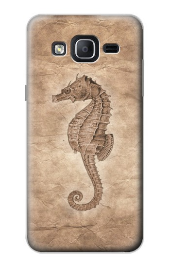 Printed Seahorse Old Paper Samsung Galaxy On5 Case