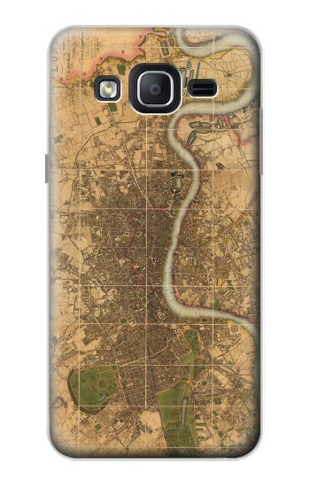 Printed Vintage Map of London Samsung Galaxy On5 Case