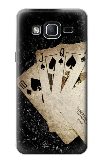 Printed Vintage Royal Straight Flush Cards Samsung Galaxy On5 Case