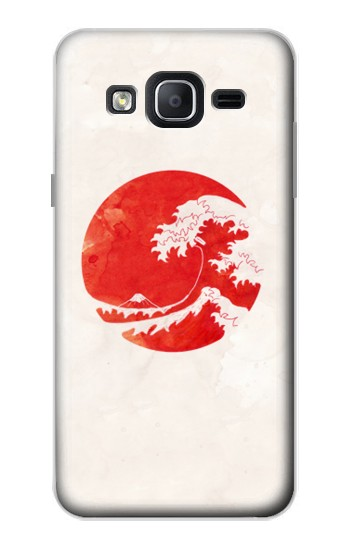 Printed Waves Japan Flag Samsung Galaxy On5 Case