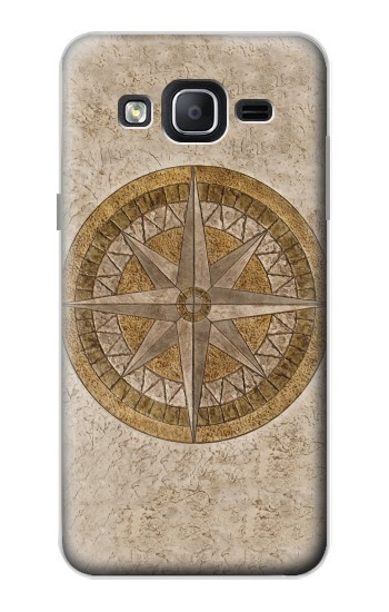 Printed Windrose Circle Stamp Samsung Galaxy On5 Case