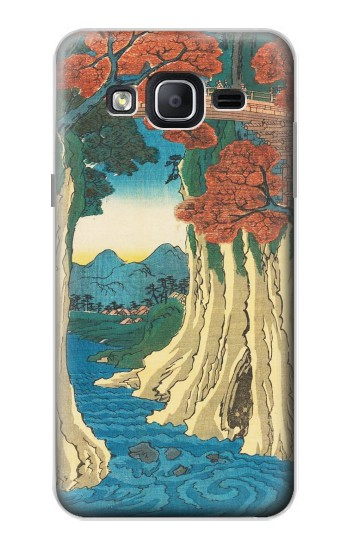 Printed Utagawa Hiroshige The Monkey Bridge in Kai Province Samsung Galaxy On5 Case