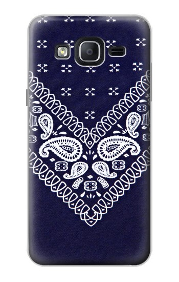 Printed Navy Blue Bandana Pattern Samsung Galaxy On5 Case