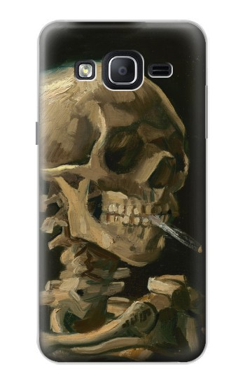 Printed Vincent Van Gogh Head Skeleton Cigarette Samsung Galaxy On5 Case
