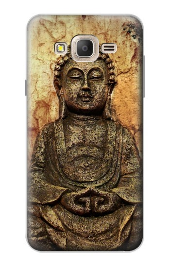 Printed Buddha Rock Carving Samsung Galaxy On7 Case