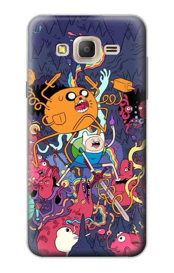 Printed Adventure Time Samsung Galaxy On7 Case