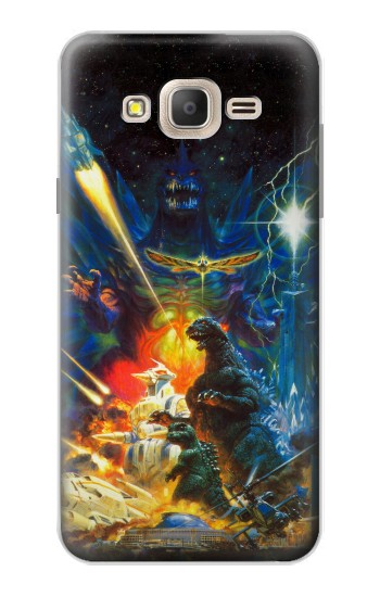 Printed Godzilla VS Space Godzilla Samsung Galaxy On7 Case