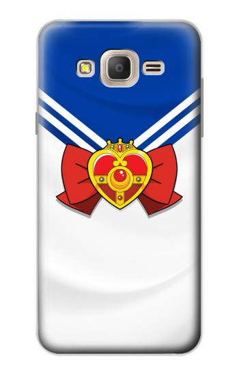 Printed Sailor Moon Brooch and Bow Samsung Galaxy On7 Case
