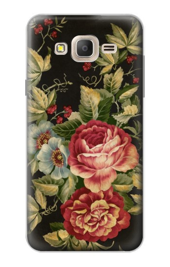 Printed Vintage Antique Roses Samsung Galaxy On7 Case