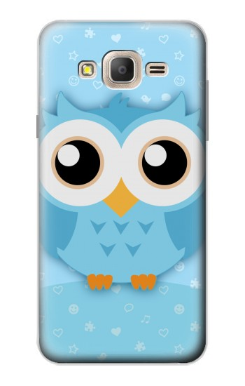 Printed Cute Blue Owl Samsung Galaxy On7 Case