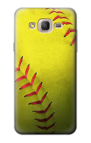 Printed Yellow Softball Ball Samsung Galaxy On7 Case