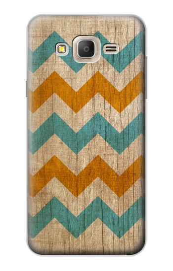Printed Vintage Wood Chevron Samsung Galaxy On7 Case