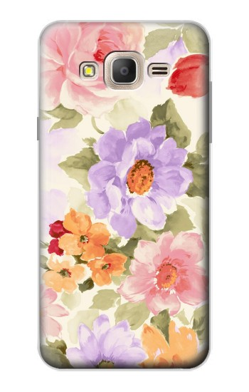 Printed Sweet Flower Painting Samsung Galaxy On7 Case