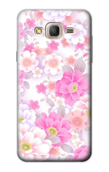 Printed Pink Sweet Flower Flora Samsung Galaxy On7 Case