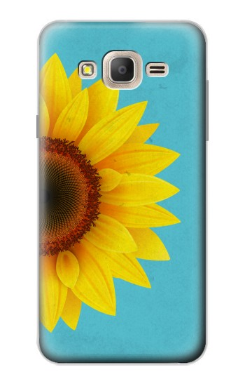 Printed Vintage Sunflower Blue Samsung Galaxy On7 Case