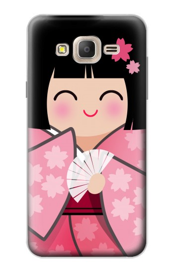 Printed Japan Lucky Doll Kimono Sakura Samsung Galaxy On7 Case