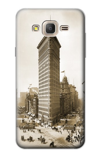 Printed Old New York Flatiron Building Samsung Galaxy On7 Case