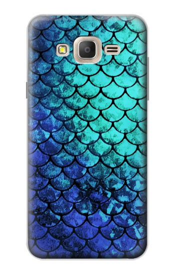 Printed Green Mermaid Fish Scale Samsung Galaxy On7 Case