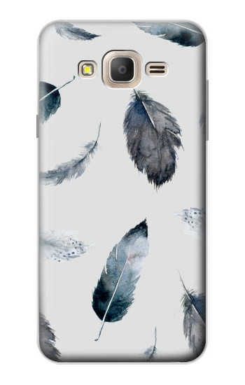 Printed Feather Paint Pattern Samsung Galaxy On7 Case