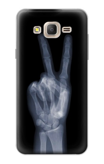 Printed X-ray Peace Finger Samsung Galaxy On7 Case