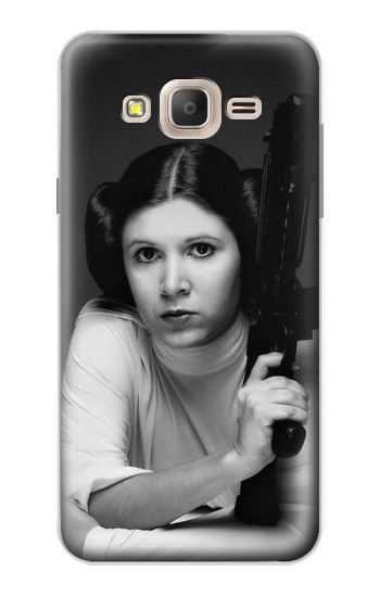 Printed Princess Leia Carrie Fisher Samsung Galaxy On7 Case