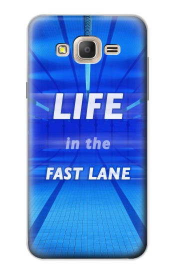 Printed Life in the Fast Lane Swimming Pool Samsung Galaxy On7 Case