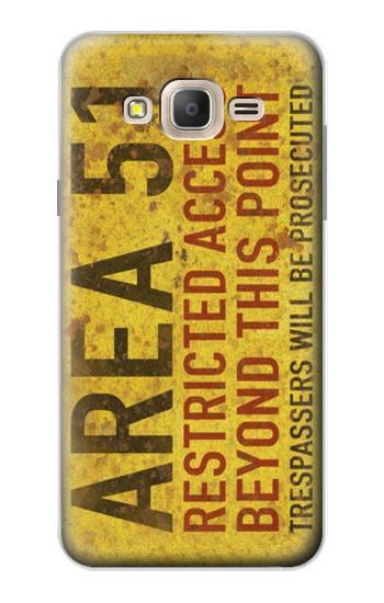Printed Area 51 Restricted Access Warning Sign Samsung Galaxy On7 Case