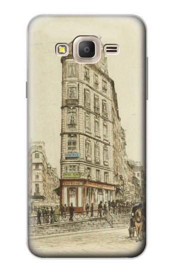 Printed Boulevards of Paris Samsung Galaxy On7 Case
