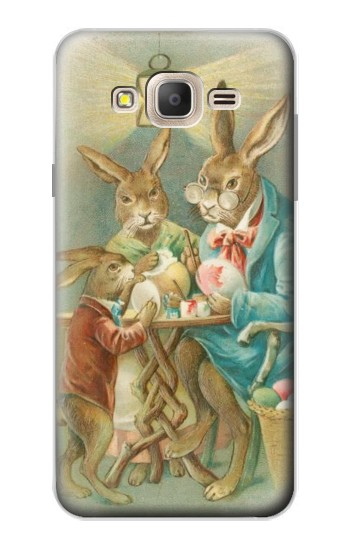 Printed Easter Rabbit Family Samsung Galaxy On7 Case