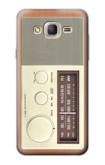 Printed FM AM Wooden Receiver Graphic Samsung Galaxy On7 Case