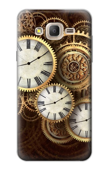 Printed Gold Clock Live Samsung Galaxy On7 Case