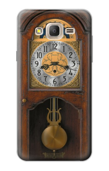 Printed Grandfather Clock Antique Wall Clock Samsung Galaxy On7 Case