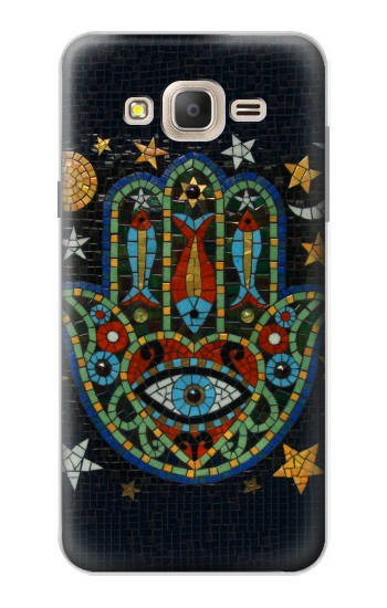 Printed Hamsa Hand Mosaics Samsung Galaxy On7 Case