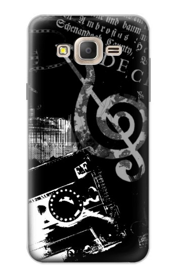 Printed Music Cassette Note Samsung Galaxy On7 Case
