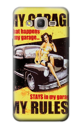 Printed My Garage Pinup Girl Samsung Galaxy On7 Case