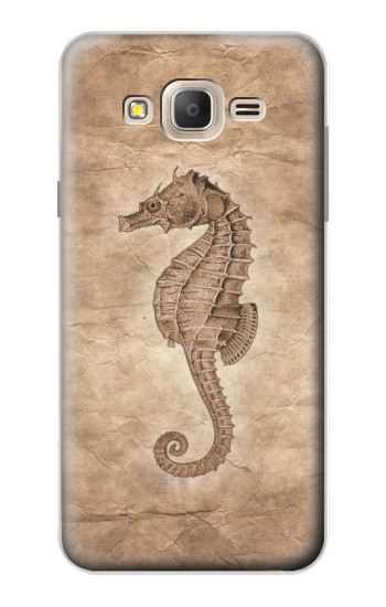 Printed Seahorse Old Paper Samsung Galaxy On7 Case