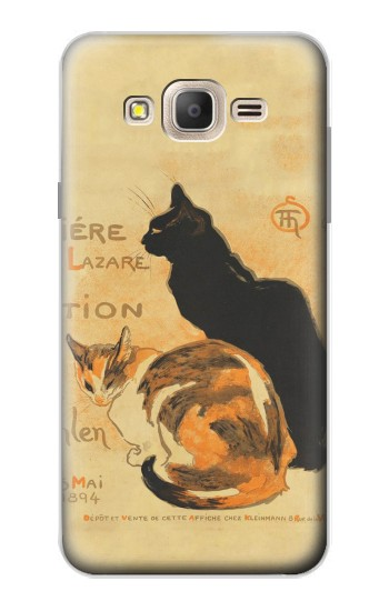 Printed Vintage Cat Poster Samsung Galaxy On7 Case