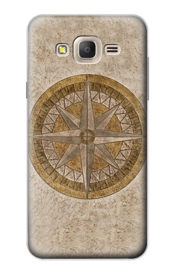 Printed Windrose Circle Stamp Samsung Galaxy On7 Case
