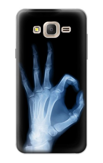 Printed X-Ray Hand Sign OK Samsung Galaxy On7 Case