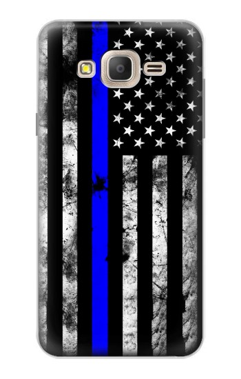 Printed Thin Blue Line USA Samsung Galaxy On7 Case